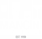 White Mancini Beverage Logo