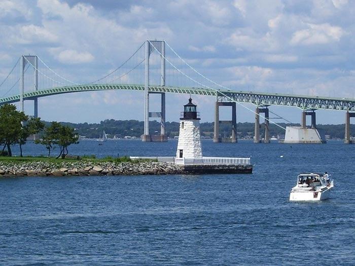 Newport Harbor Light in Newport Rhode Island