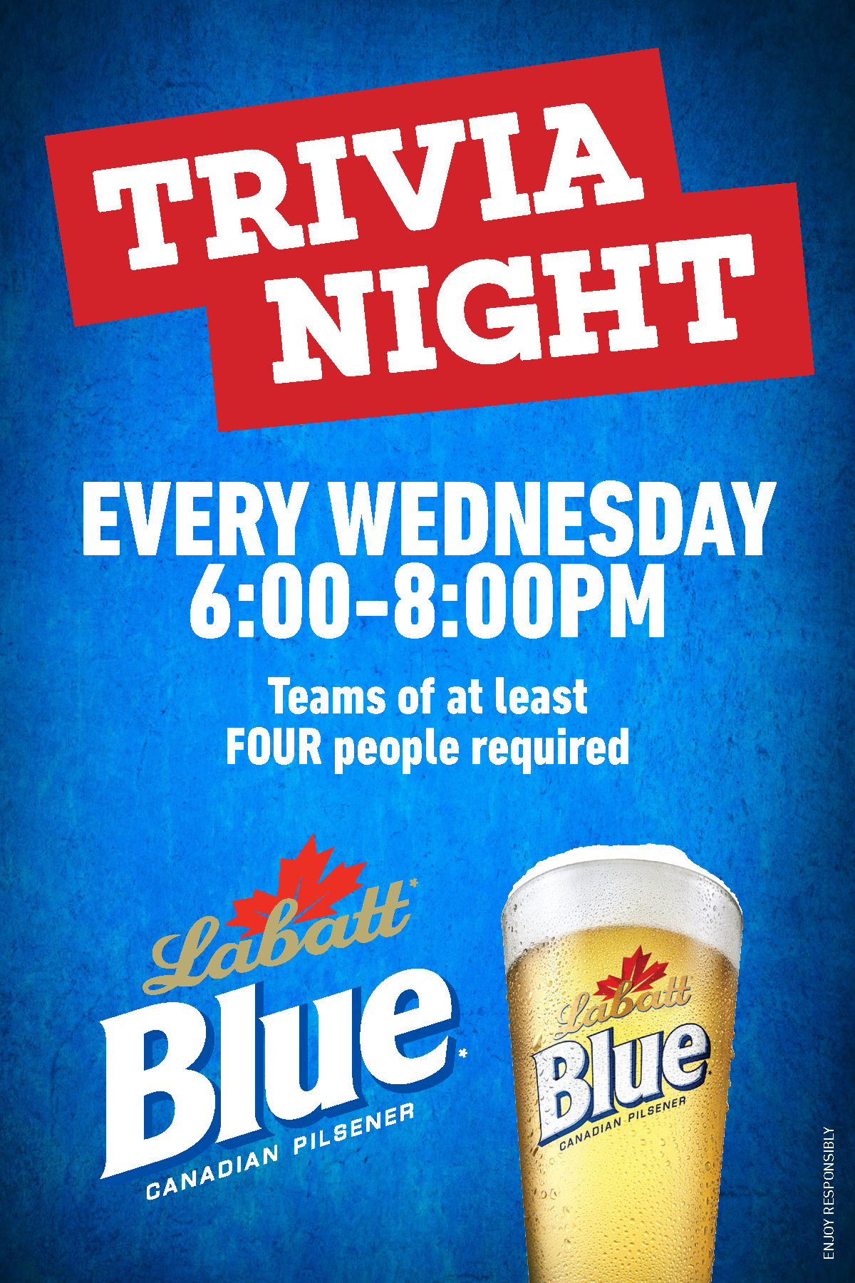 Buffalo Wild Wings Labatt Blue Trivia Night