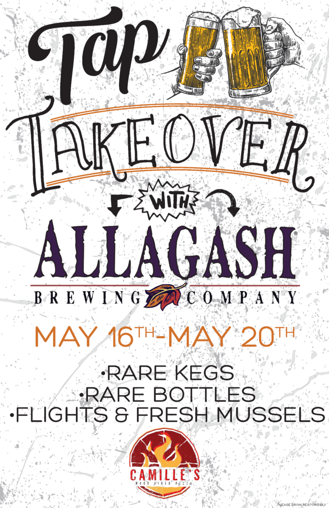 camielles 11x17 allagash tap takeover poster
